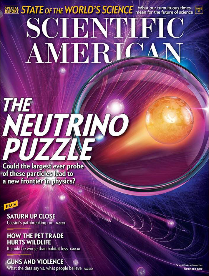 Scientific American Neutrino Puzzle Cover Mark Ross